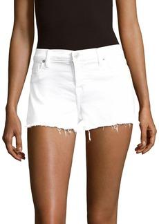 Hudson Jeans Cotton-Blend Frayed-Cuff Denim Shorts