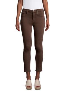 Hudson Jeans Cropped Cotton Blend Jeans