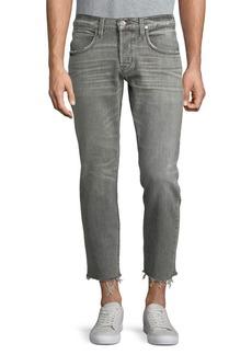 Hudson Jeans Cropped Frayed Hem Jeans