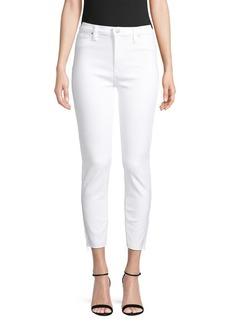 Hudson Jeans High-Rise Skinny Cropped Raw-Hem Jeans