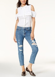 Hudson Jeans Cropped Straight-Leg Jeans