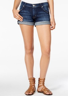 Hudson Jeans Cuffed Enlighten Wash Denim Shorts