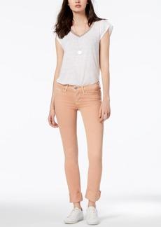 Hudson Jeans Cuffed Raw-Hem Skinny Jeans