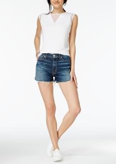 Hudson Jeans Dahlia Cotton Dolphin-Hem Denim Shorts