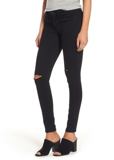 Hudson Jeans 'Elysian - Nico' Super Skinny Jeans (Destructed Black) (Nordstrom Exclusive)
