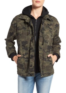 Hudson Jeans Emmet Hooded Boyfriend Jacket