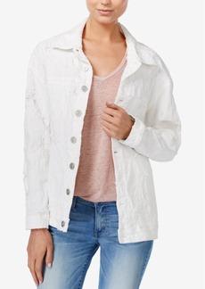 Hudson Jeans Emmet Ripped Cotton Denim Jacket