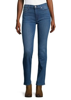 Hudson Faded Mid-Rise Jeans