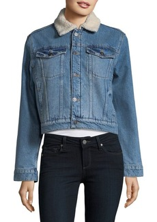 Hudson Jeans Faux Fur-Lined Denim Jacket