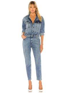 Hudson Jeans Fitted Long Sleeve Jumpsuit