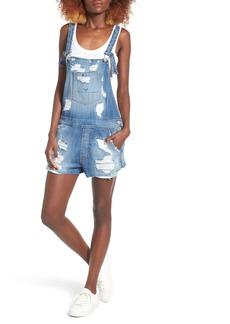 Hudson Jeans Florence Rip & Repair Short Denim Overalls (Southpaw 2)