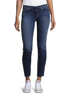 Hudson Jeans Frayed-Trim Ankle-Length Jeans