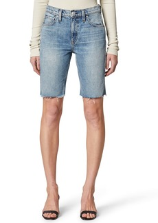 Hudson Jeans Freya High Waist Cutoff Denim Biker Shorts (Temptation)