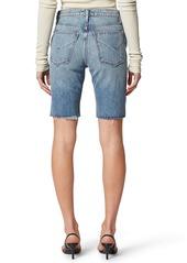 Hudson Jeans Freya High Waist Cutoff Denim Biker Shorts (Temptation)