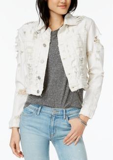 Hudson Jeans Garrison Cotton Ripped Denim Jacket