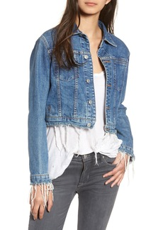 Hudson Jeans Garrison Crop Denim Jacket (Continuum)