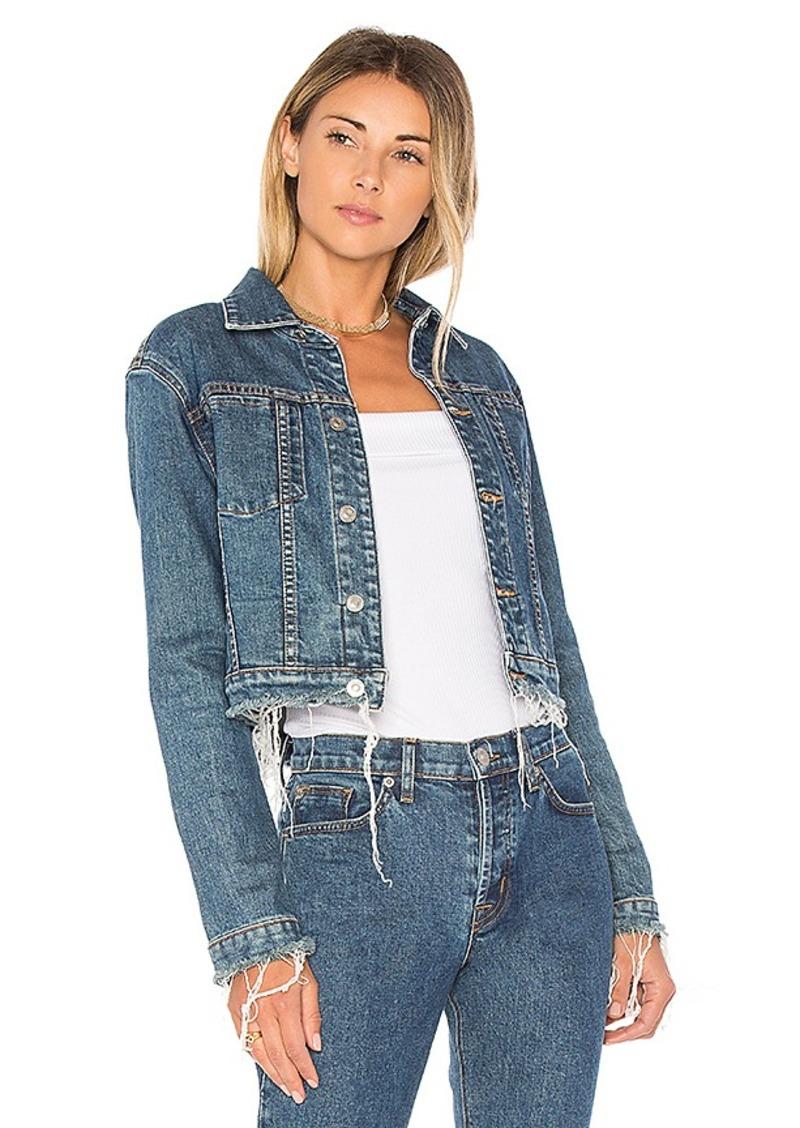 Hudson Jeans Garrison Cropped Jacket. - size L (also in M,S,XS)