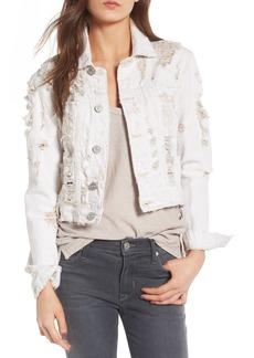 Hudson Jeans Garrison Ripped Crop Denim Jacket