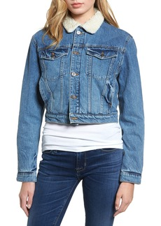 Hudson Jeans Georgia Fleece Lined Denim Jacket