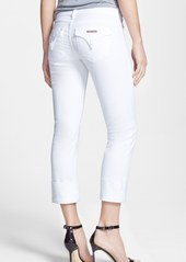 Hudson Jeans 'Ginny Crop' Stretch Skinny Jeans (White)