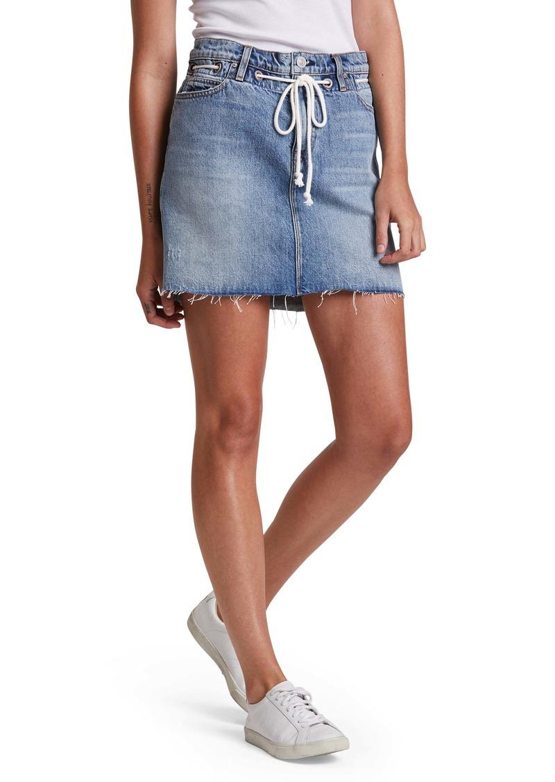 Hudson Jeans Grommet Detail Denim Miniskirt