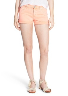 Hudson Jeans 'Hampton' Cuffed Denim Shorts (Luminous Orange)