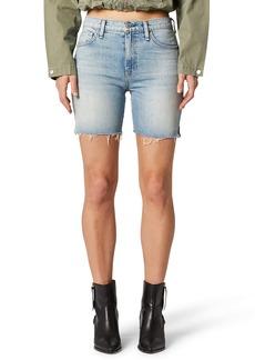 Hudson Jeans Hana High Waist Cutoff Denim Biker Shorts