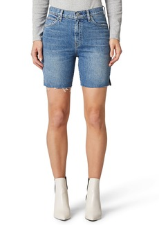 Hudson Jeans Hana High Waist Cutoff Denim Biker Shorts