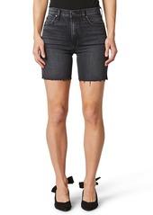 Hudson Jeans Hana Raw Hem Denim Biker Shorts (Tainted Love)