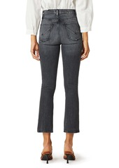Hudson Jeans Holly High Waist Crop Bootcut Jeans (Black Lightning)