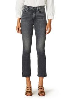 Hudson Jeans Holly High Waist Crop Bootcut Jeans (Black Lightning)