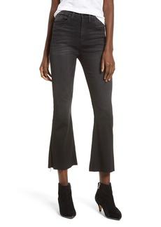 Hudson Jeans Holly High Waist Crop Flare Jeans (Black Hound)