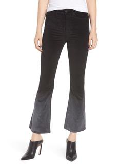 Hudson Jeans Holly High Waist Crop Flare Jeans (Dégradé Black Slate)