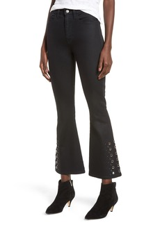 Hudson Jeans Holly High Waist Crop Flare Jeans (Nocturnal)