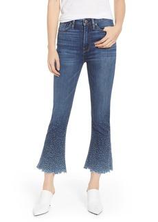Hudson Jeans Holly High Waist Crop Flare Jeans (Sundown Distressed)