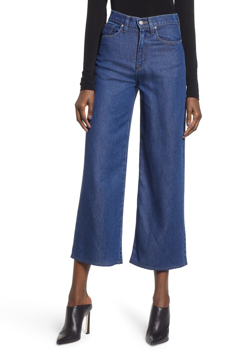Hudson Jeans Holly High Waist Crop Wide Leg Jeans (Marina)