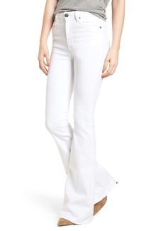 Hudson Jeans Holly High Waist Flare Jeans (Optical White)