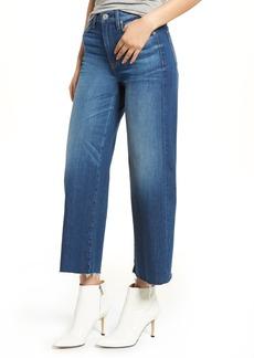 Hudson Jeans Holly High Waist Raw Hem Crop Wide Leg Jeans (Own It)