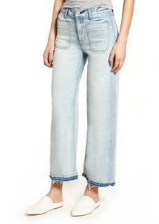 Hudson Jeans Holly High Waist Released Hem Crop Wide Leg Jeans (Frame of Mind)