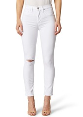 Hudson Jeans Holly High Waist Ripped Ankle Skinny Jeans (Beat Up White)