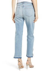 Hudson Jeans Holly High Waist Side Zip Crop Straight Leg Jeans (Uninterrupted)