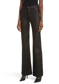 Hudson Jeans Holly High Waist Wide Leg Jeans (Gold Stellar)