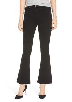 Hudson Jeans Holly Pierced High Waist Crop Flare Jeans