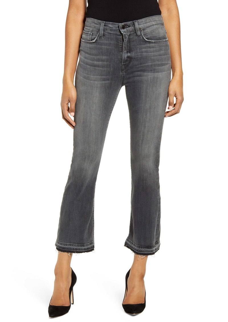 Hudson Jeans Holly Release Hem Ankle Flare Jeans (Dark Waves)