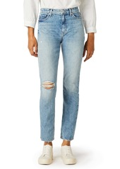 Hudson Jeans Holly Ripped High Waist Ankle Straight Leg Jeans (All or Nothing)