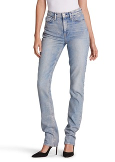 Hudson Jeans Holly Ripped High Waist Straight Leg Jeans (Preface)
