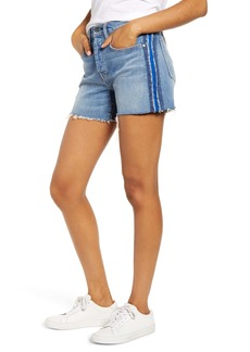 Hudson Jeans Jade Side Stripe Cutoff Boyfriend Shorts (Night Tide)