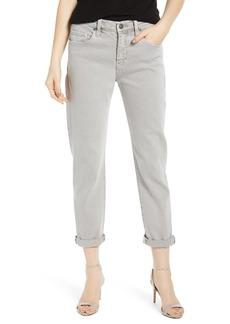 Hudson Jeans Jessi Relaxed Crop Boyfriend Jeans (Soft Gris)