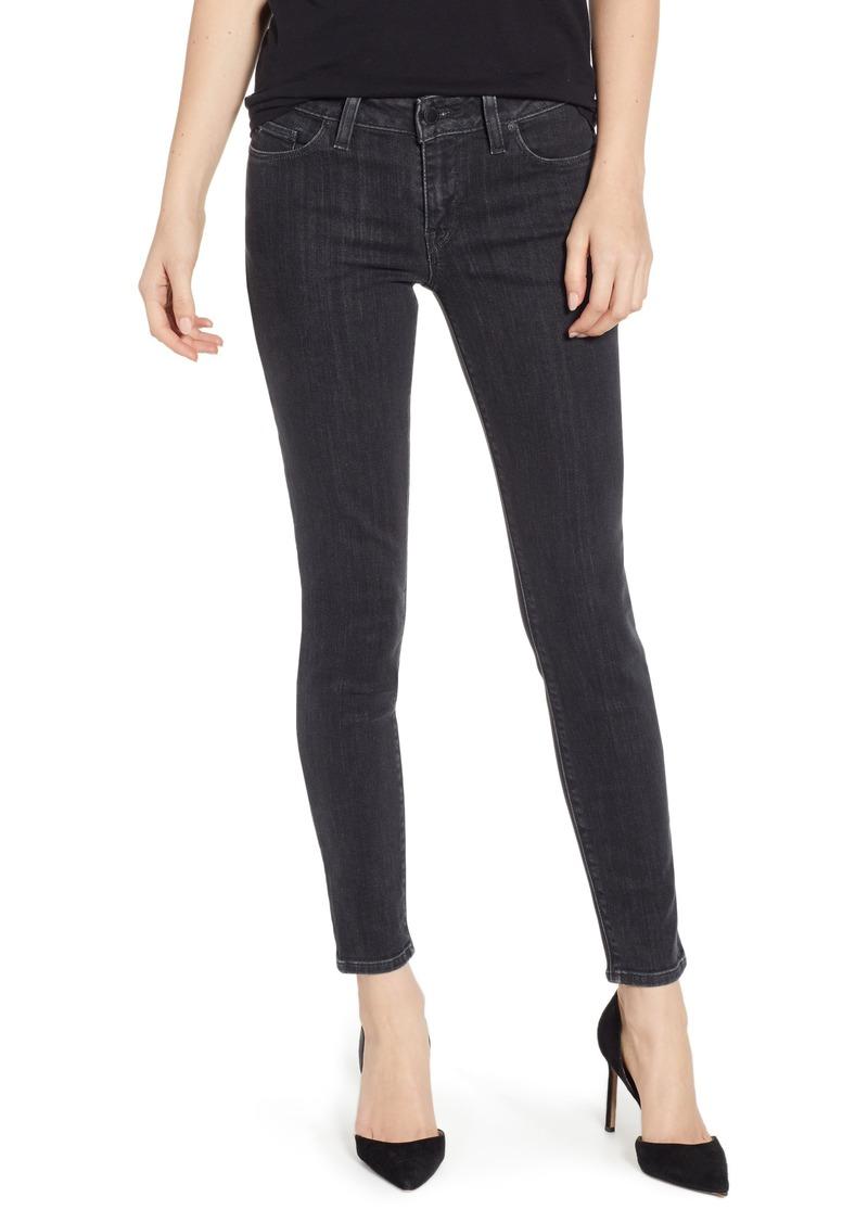 Hudson Jeans Krista Ankle Super Skinny Jeans (Washed Black)