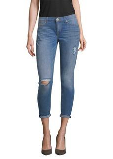 Hudson Jeans Krista Crop Destructed Skinny Pant